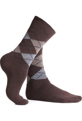 Miorre Yün Ekose Desenli Erkek Çorabı 1029027