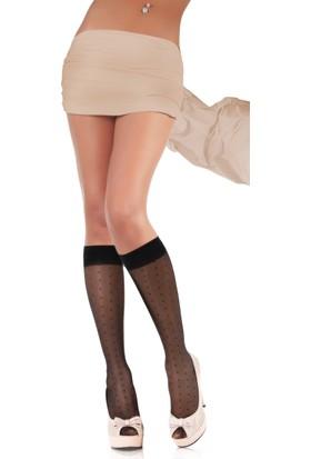 Miorre 5 Çift Desenli Dizaltı Çorap 20 Denye