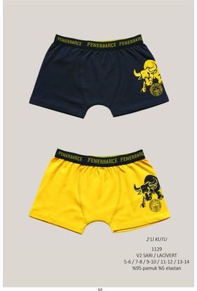 Roly Poly Fenerbahçe Lisanslı Çocuk 2'li Baskılı Boxer