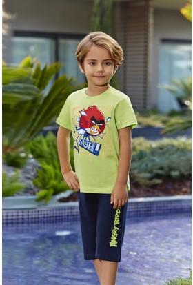Roly Poly Angry Birds Lisanslı Erkek Çocuk Kapri Takım