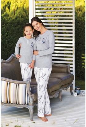 Pierre Cardin Kız Çocuk Pijama Takımı Gri