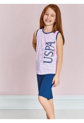 U.S. Polo Assn. Kız Çocuk Bermuda Pijama Takımı