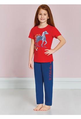 U.S. Polo Assn. Kız Çocuk Alt Uzun Pijama Takımı