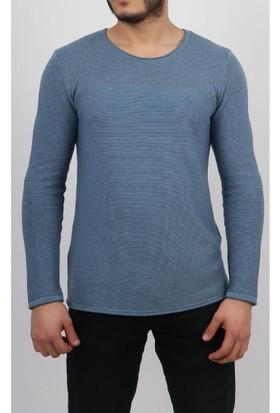 C21 Mavi Erkek Kazak 5746