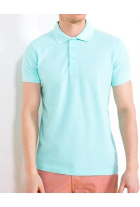 Cazador Erkek Polo Yaka Battal T-Shirt Açık Yeşil 4613