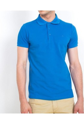 Cazador Erkek Polo Yaka Battal T-Shirt Mavi 4613