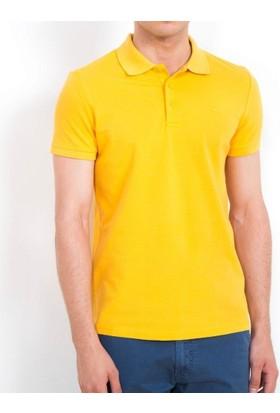 Cazador Erkek Polo Yaka Battal T-Shirt Sarı 4613
