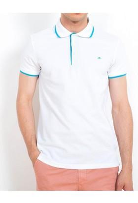 Cazador Polo Yaka T-Shirt Slim Fit Beyaz 4614