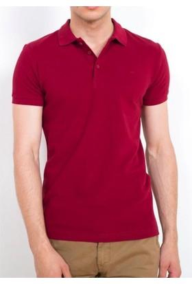 Cazador Polo Yaka T-Shirt Slim Fit Bordo 4613