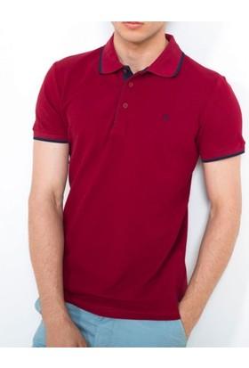 Cazador Polo Yaka T-Shirt Slim Fit Bordo 4614