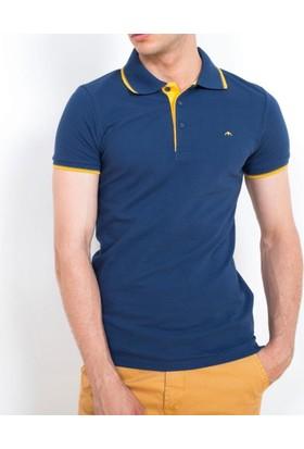 Cazador Polo Yaka T-Shirt Slim Fit İndigo 4614