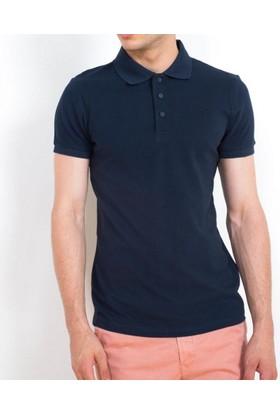 Cazador Polo Yaka T-Shirt Slim Fit Lacivert 4613