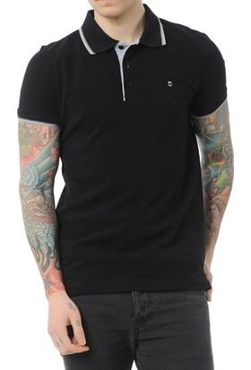 Cazador Polo Yaka T-Shirt Slim Fit Siyah 4614