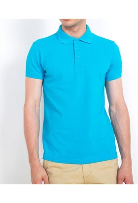 Cazador Polo Yaka T-Shirt Slim Fit Turkuaz 4613