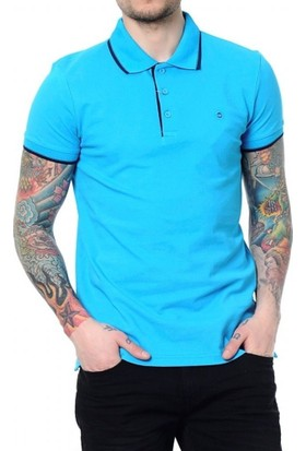 Cazador Polo Yaka T-Shirt Slim Fit Turkuaz 4614