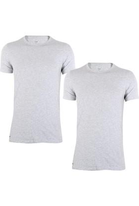 Lacoste Ram8702-Gri T-Shirt 2'li