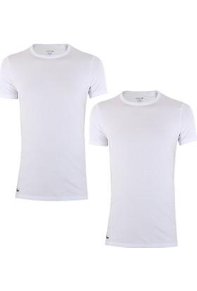 Lacoste Ram8702-Beyaz T-Shirt 2'li