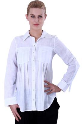 Voimoda Cepler Nakış Detaylı Gömlek