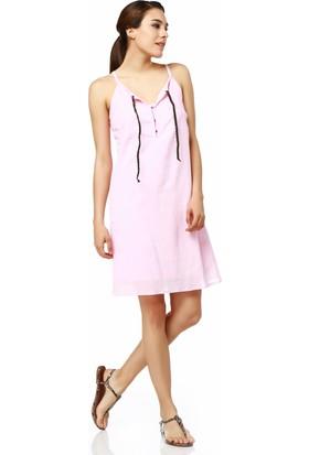 Sense 13512 Önü Örgülü Bağcıklı Elbise