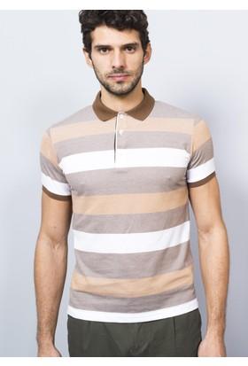 Adze Polo Yaka Ringelli T-Shirt