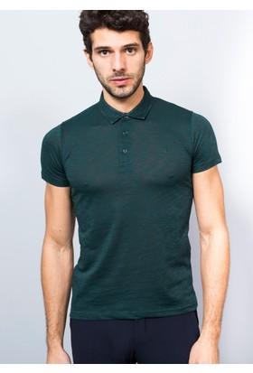 Adze Erkek Polo Yaka Şantuk Petrol T-Shirt