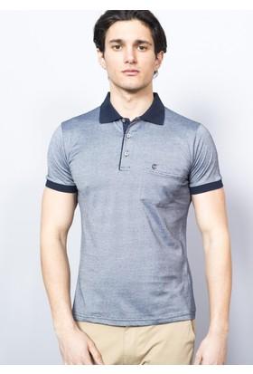 Adze Erkek Lacivert Polo Yaka Süprem T-Shirt