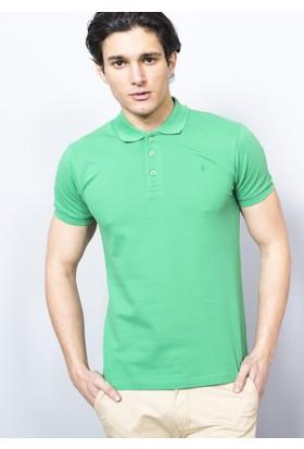 Adze Erkek Yeşil Polo Yaka Pike T-Shirt