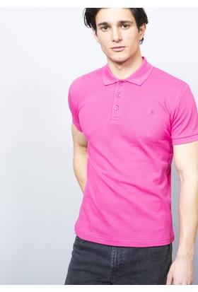 Adze Erkek Fusya Polo Yaka Pike T-Shirt
