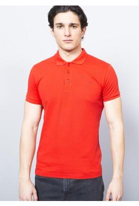 Adze Erkek Kırmızı Polo Yaka Pike T-Shirt