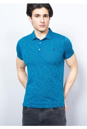 Adze Erkek Petrol Polo Yaka Şantuk T-Shirt