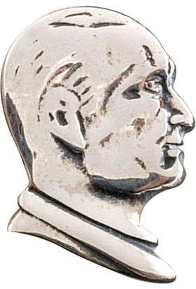 Akyüz Gümüş Atatürk Gümüş Rozet Akse008