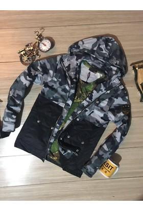 Oksit Saller 2017 Camouflage Yazlık Mont Siyah