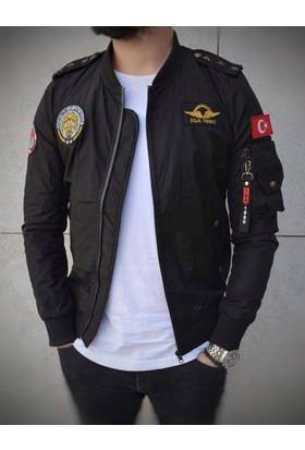 Oksit Tr Army Mikro Kumaş Pilot Mont-Siyah