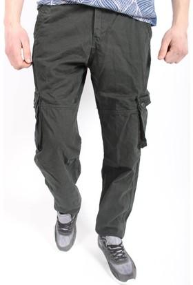 Oksit Rahat Kesim Cepli Kargo Pantalon Haki Yeşil
