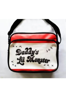 Köstebek Daddy'S Lil Monster Kare Postacı Çanta