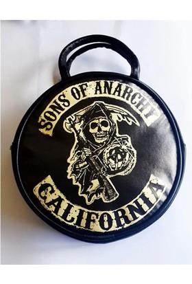 Köstebek Sons Of Anarch - Logo Yuvarlak Çanta