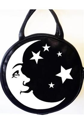 Köstebek Moon And Stars Postacı Yuvarlak Çanta
