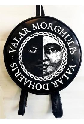 Köstebek Game Of Thrones - Valar Morghulis Yuvarlak Sırt Çantası