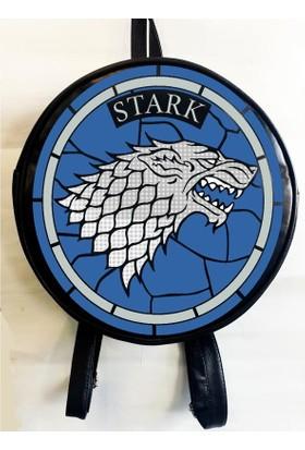 Köstebek Game Of Thrones - Stark Logo Yuvarlak Sırt Çantası