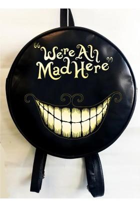 Köstebek Alice In Wonderland - Were All Mad Here Yuvarlak Sırt Çantası