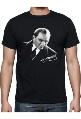 Weblonya Atatürk Tişörtü Atatürk Baskılı Tshort