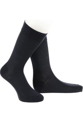Warmen Düz Antrasit Dikişsiz Çorap