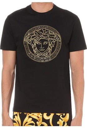 Guice Paris Versace Black Classic Medusa Sequin Model Erkek T-Shirt