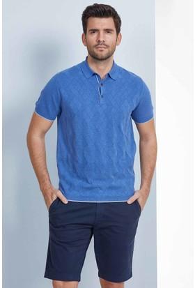 Hemington Mavi Polo Yaka Triko T-Shirt