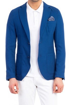 Kiğılı Örme Ceket Mavi