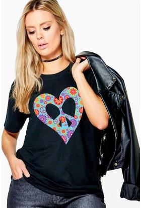The Chalcedon Peace Flowers Hippie Series Bayan Tshirt