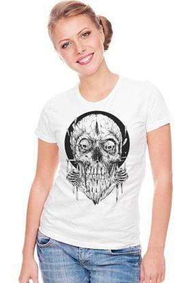 The Chalcedon Woodo Skull Tişört Bayan Tshirt