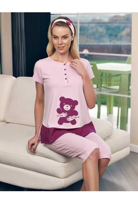 Şahinler Lohusa Pijama Takımı Ve Terlik Pudra MBP23415-1