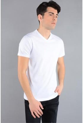 Rodin Hills Beyaz V. Yaka Süprem T-Shirt