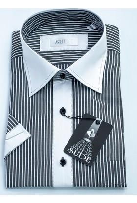Sude Klasik Pamuklu Erkek Gömlek Kısa Kollu - Cepli 31970